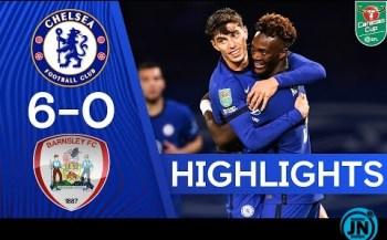 [Highlights] Chelsea 6-0 Barnsley - Carabao Cup